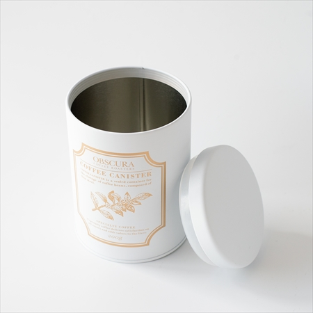 【GIFT】COFFEE CANISTER SET(白) (キャニスター白1本+コーヒー豆200g)
